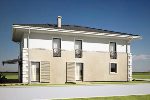 projekt domu AJR willa biała 02