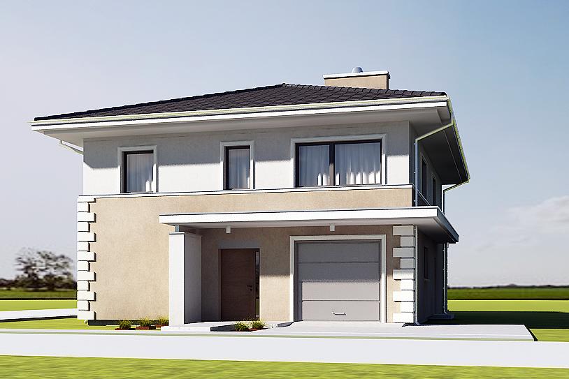 projekt domu AJR willa biała 03