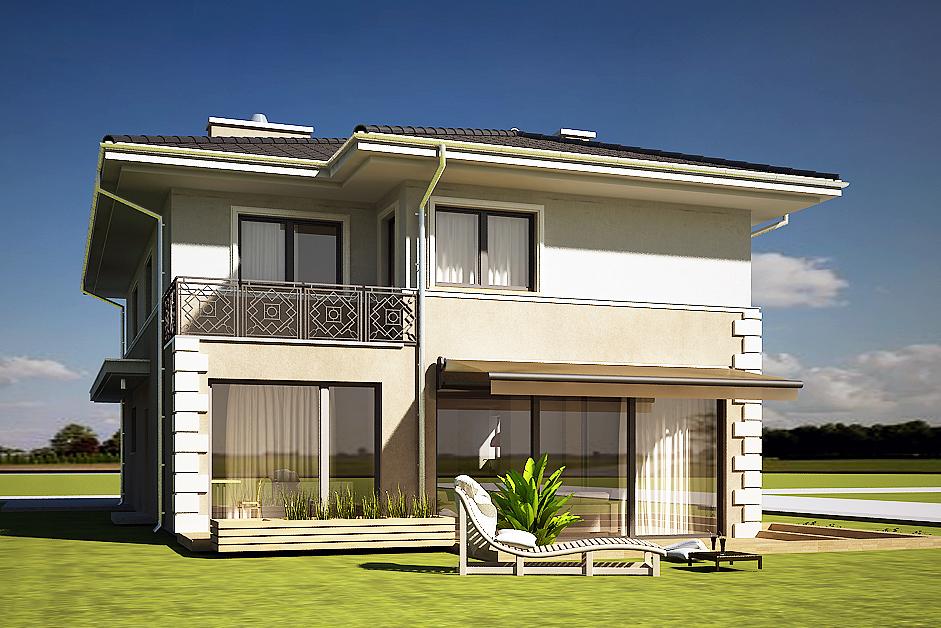 projekt domu AJR willa biała